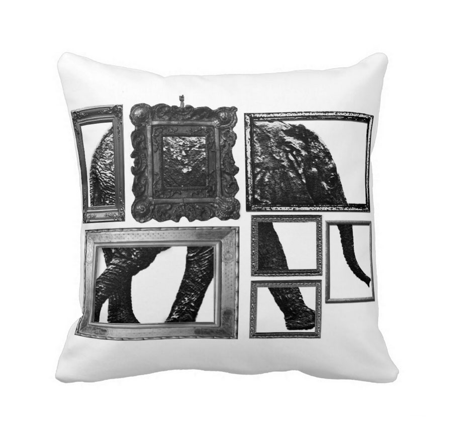 Elephant Portrait Cushion
