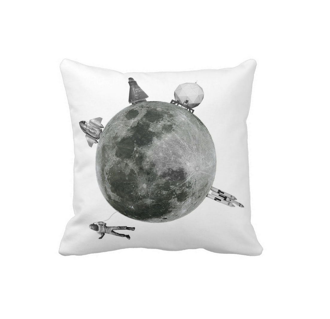 Retro Moon & Space Cushion
