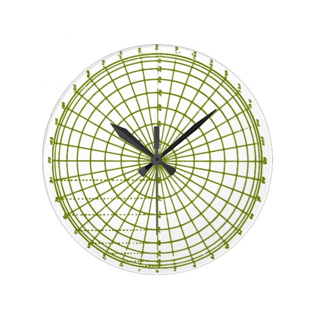 Green Geometric Wheel Clock
